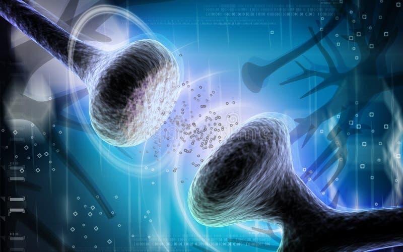 sinapsi illustrazione vettoriale