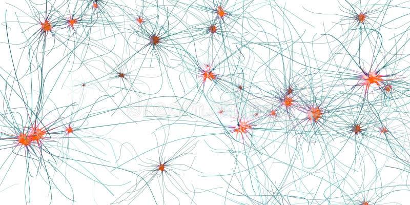 Sinapsi, neurone o cellule nervose di trasmissione illustrazione di stock