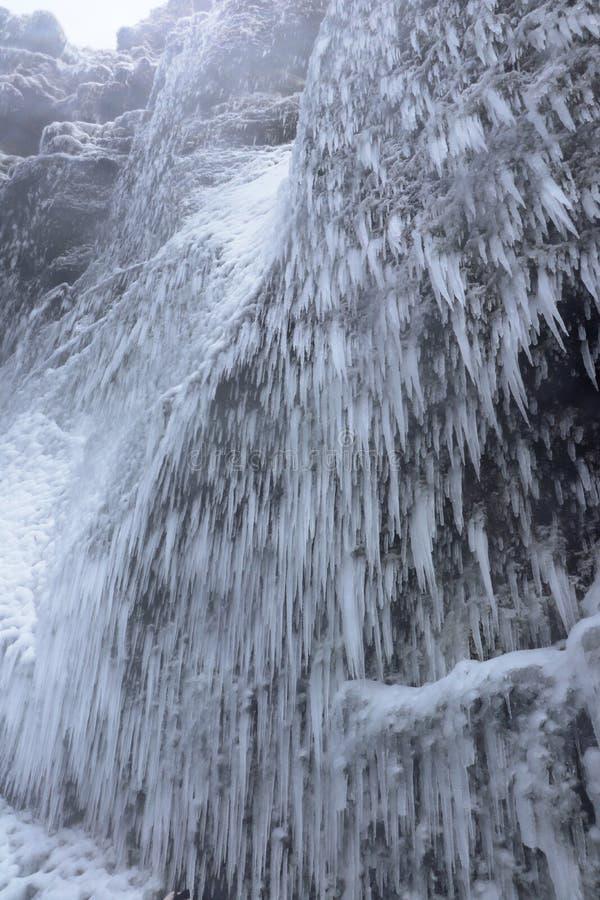 Sincelos perto da cachoeira dos gafoss do ³ de Skà em Islândia imagens de stock