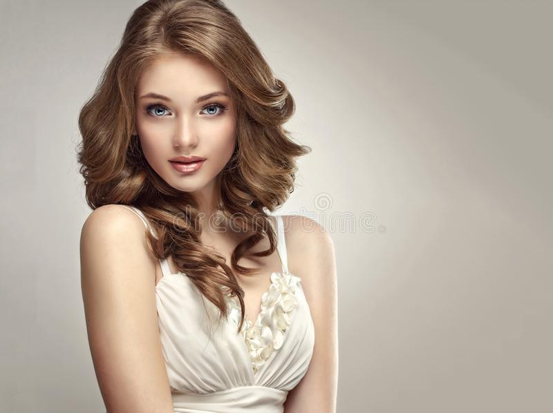 Sincere and tender look of young and gorgeous woman. royalty free stock photos