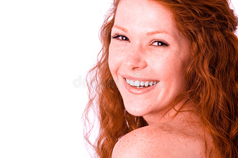Sincerely smiling girl royalty free stock photo