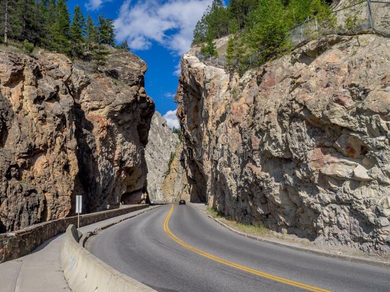 Sinclair Canyon en el parque nacional de Kootenay imagen de archivo libre de regalías