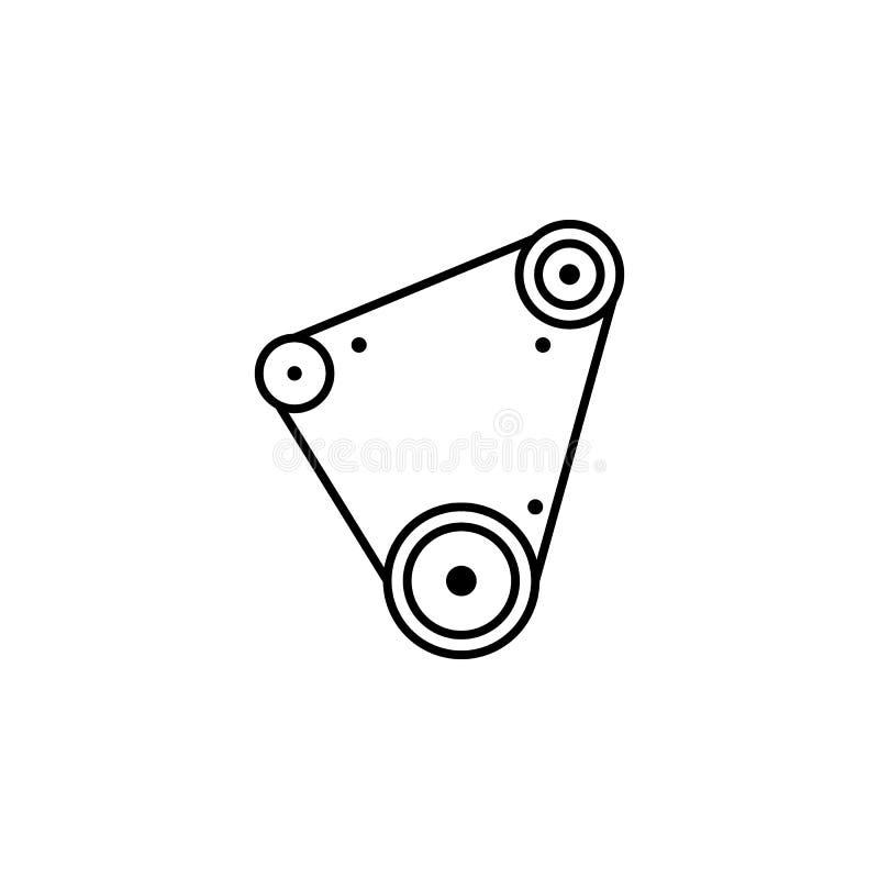 Sincronismo, ícone do esboço do carro Pode ser usado para a Web, logotipo, app móvel, UI, UX ilustração stock