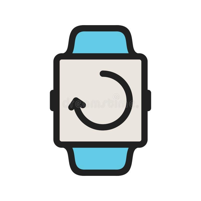 Sincronização do relógio ilustração stock