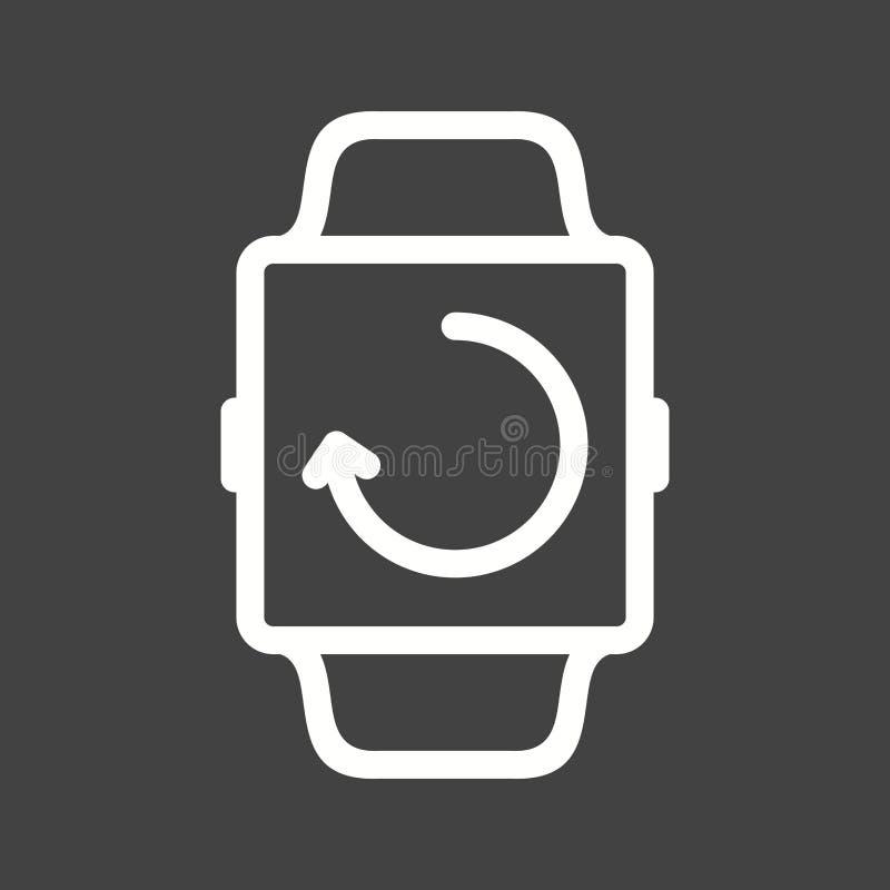 Sincronização do relógio ilustração royalty free