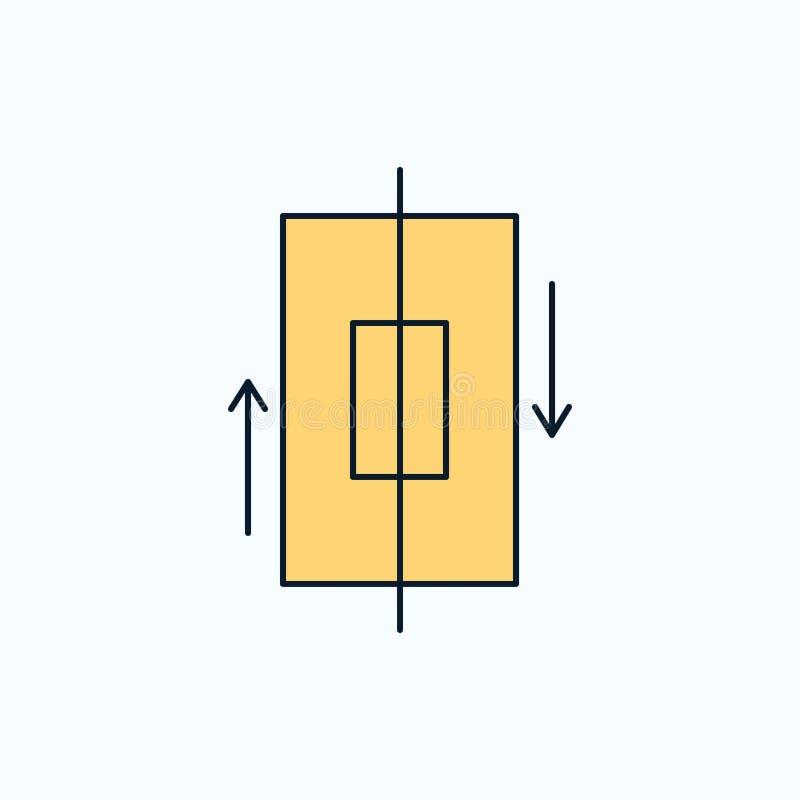 sincronización, sincronización, datos, teléfono, icono plano del smartphone muestra y s?mbolos verdes y amarillos para la p?gina  libre illustration