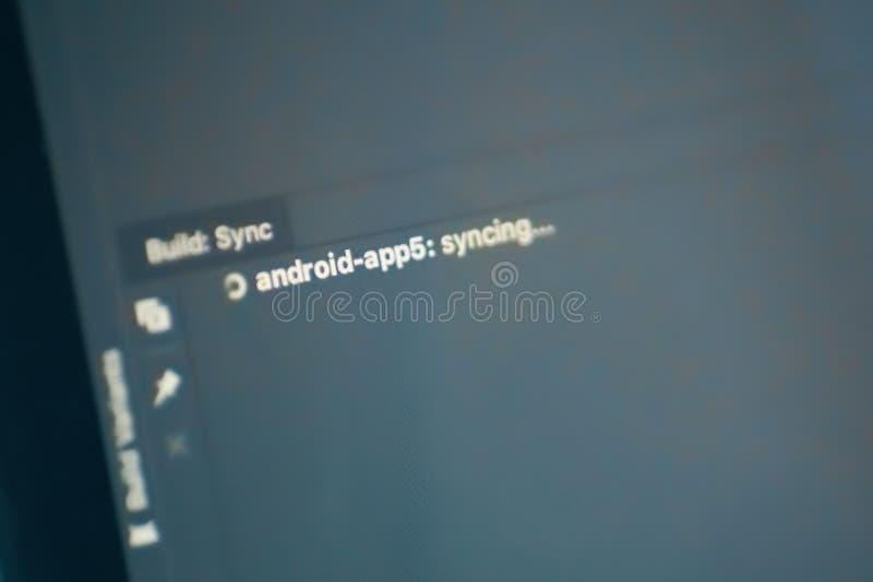 Sincronización de la estructura de Android imagen de archivo
