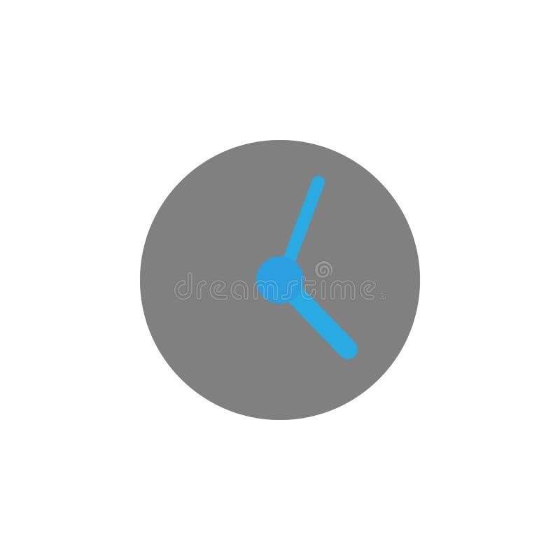 Sincronización e icono del reloj Elemento del icono de la interfaz de usuario para los apps móviles del concepto y de la web El i ilustración del vector
