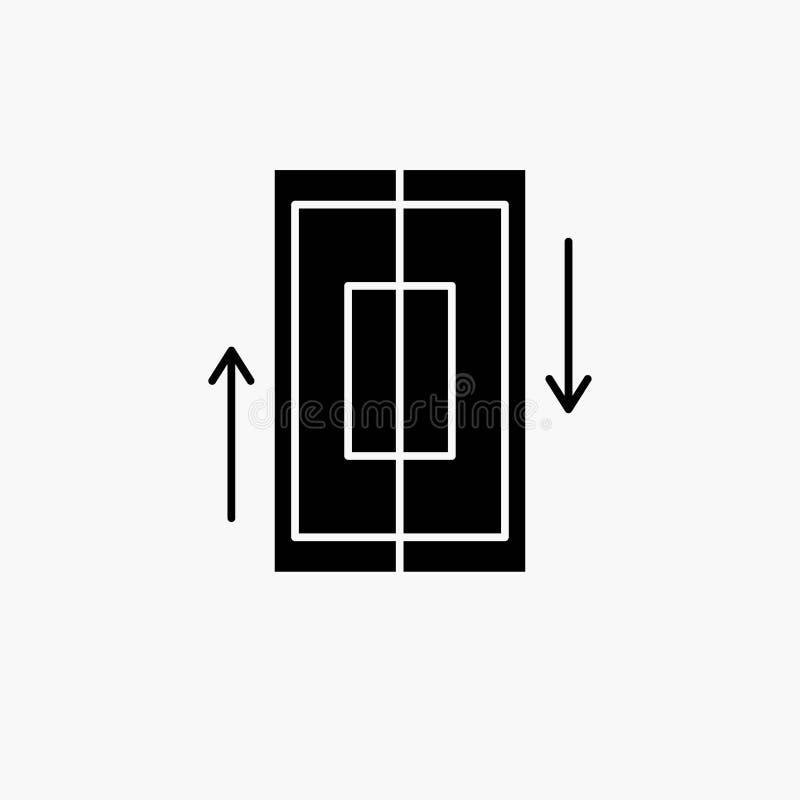 sincronizaci?n, sincronizaci?n, datos, tel?fono, icono del Glyph del smartphone Ejemplo aislado vector libre illustration