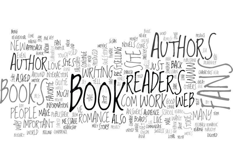 Sind die Leser, die zur Autorn-Wort-Wolke wichtig sind lizenzfreie abbildung