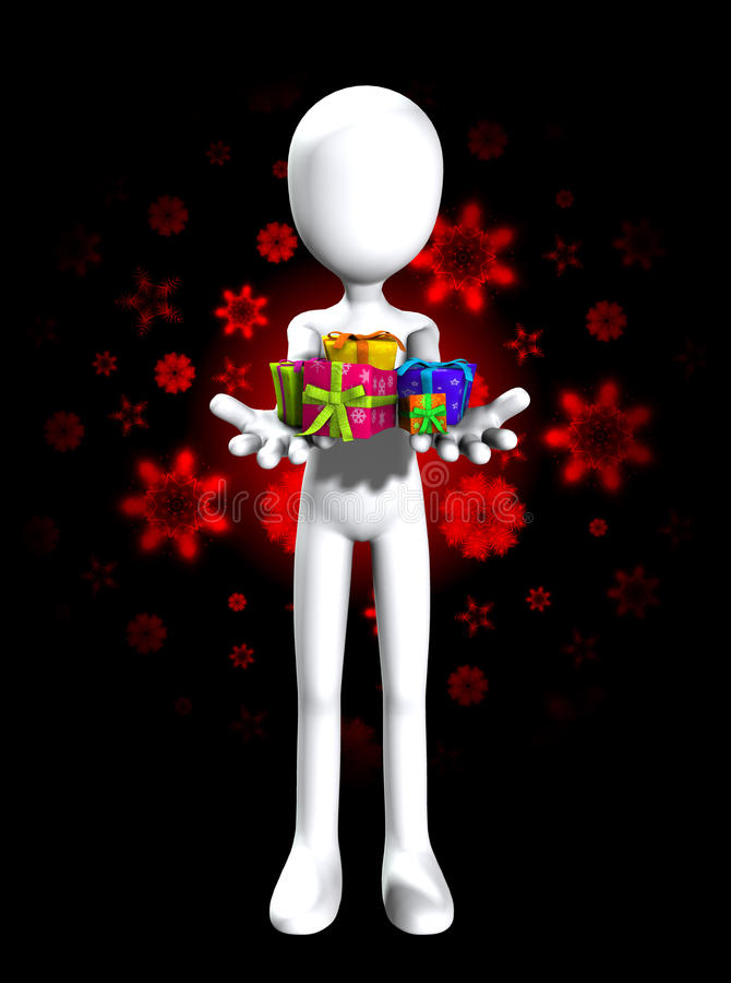 Sind Hier Einige Geschenke Für Sie Stockbild