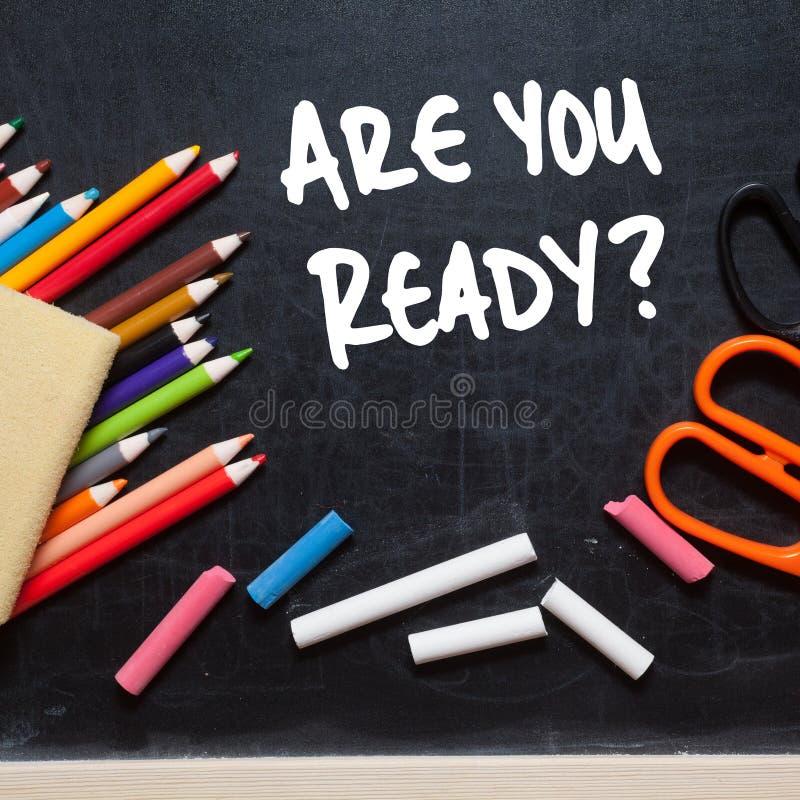 Sind Sie bereit? stockbild