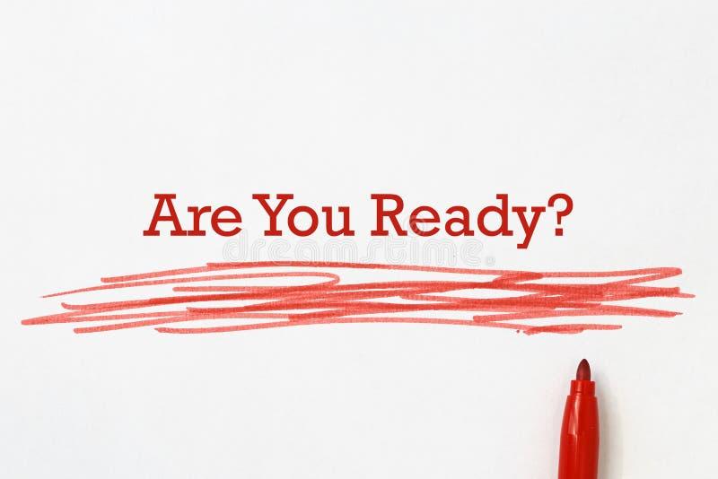 Sind Sie bereite ?berschrift vektor abbildung