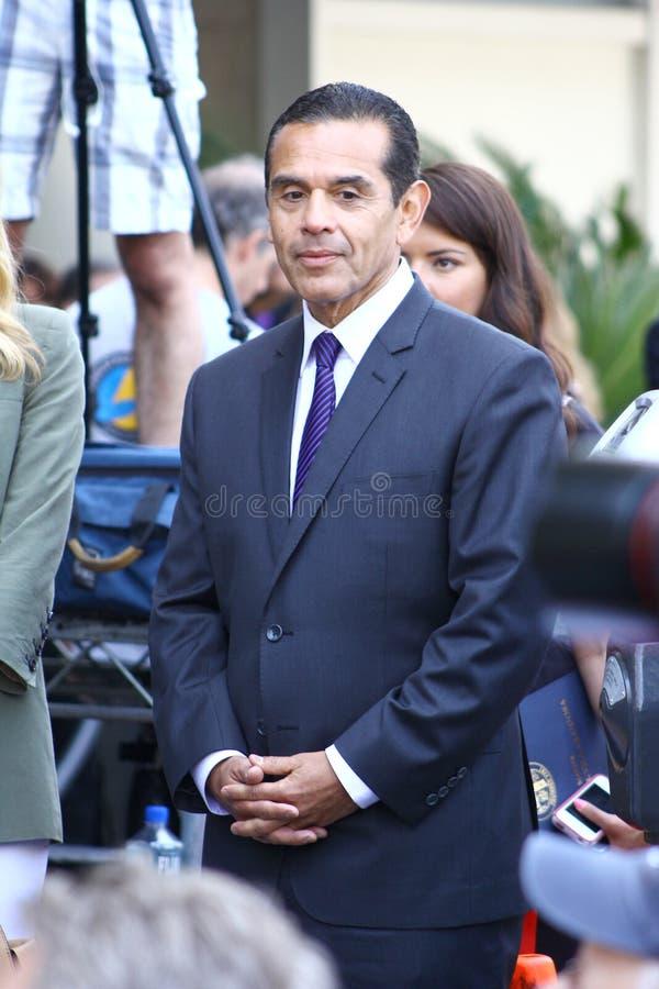 Sindaco Antonio Villaraigosa immagini stock libere da diritti