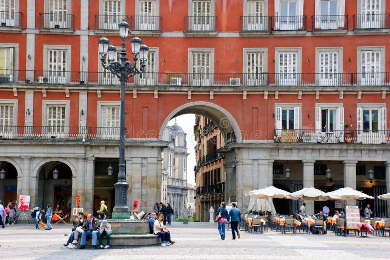 Sindaco della plaza, Madrid fotografia stock libera da diritti
