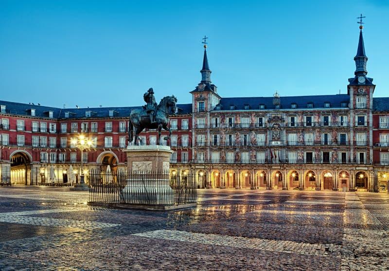 Sindaco della plaza a Madrid fotografia stock