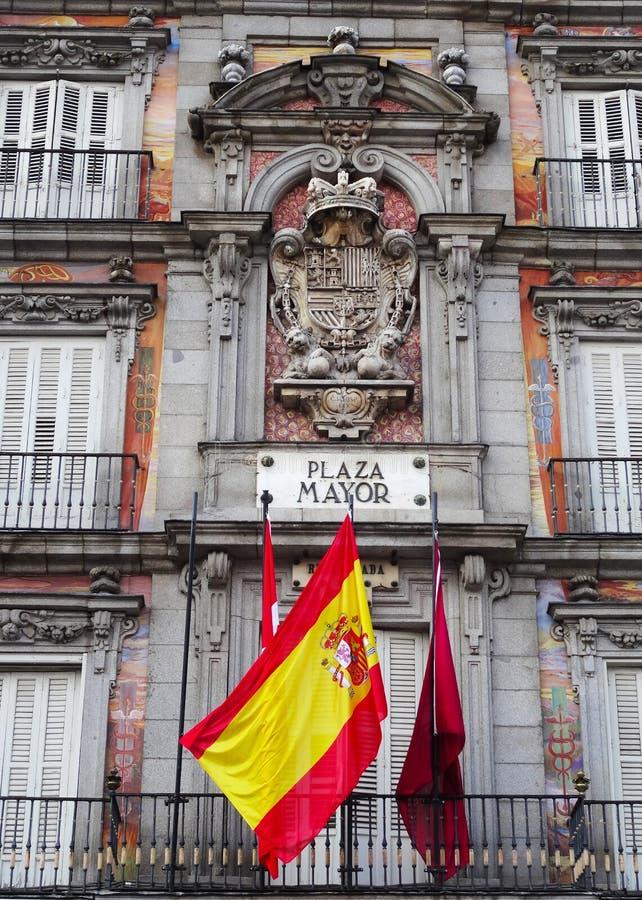 Sindaco della plaza, Madrid, Spagna immagine stock