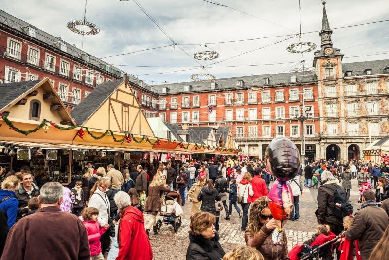 Sindaco della plaza sul Natale fotografie stock