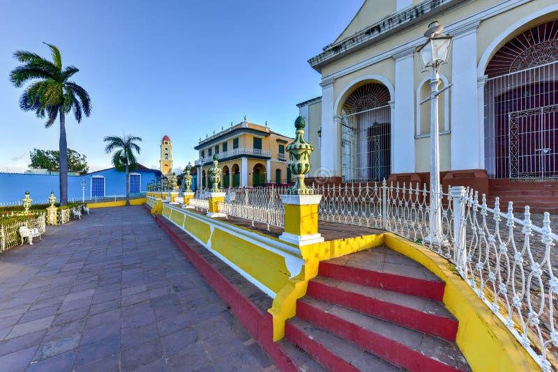 Sindaco della plaza - Trinidad, Cuba fotografie stock libere da diritti