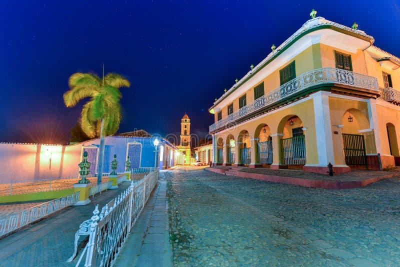 Sindaco della plaza - Trinidad, Cuba fotografie stock
