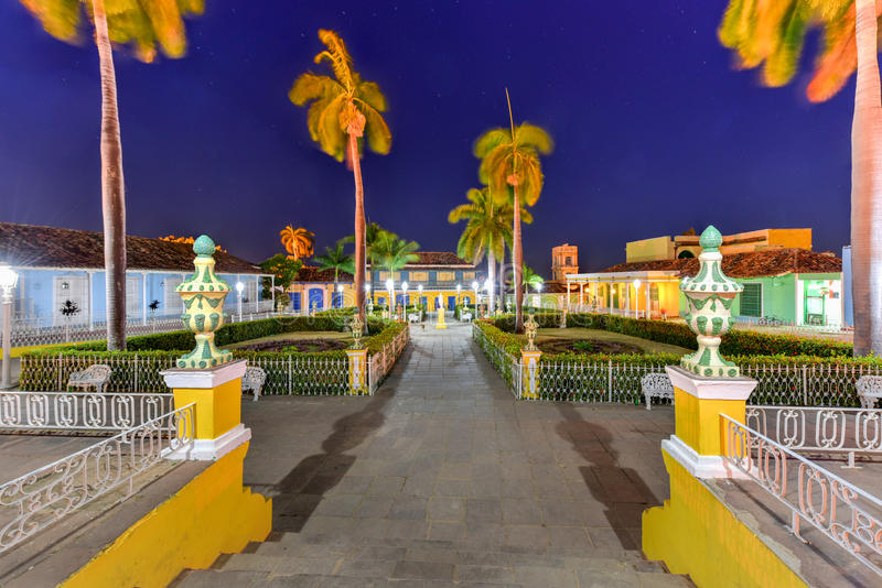 Sindaco della plaza - Trinidad, Cuba immagine stock