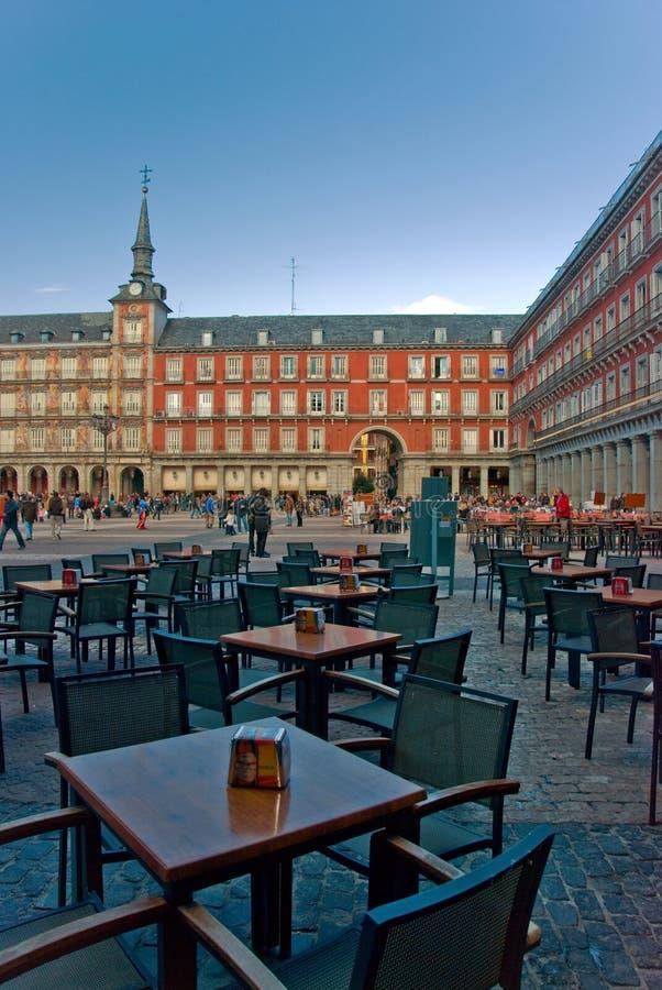 Sindaco Madrid della plaza fotografie stock