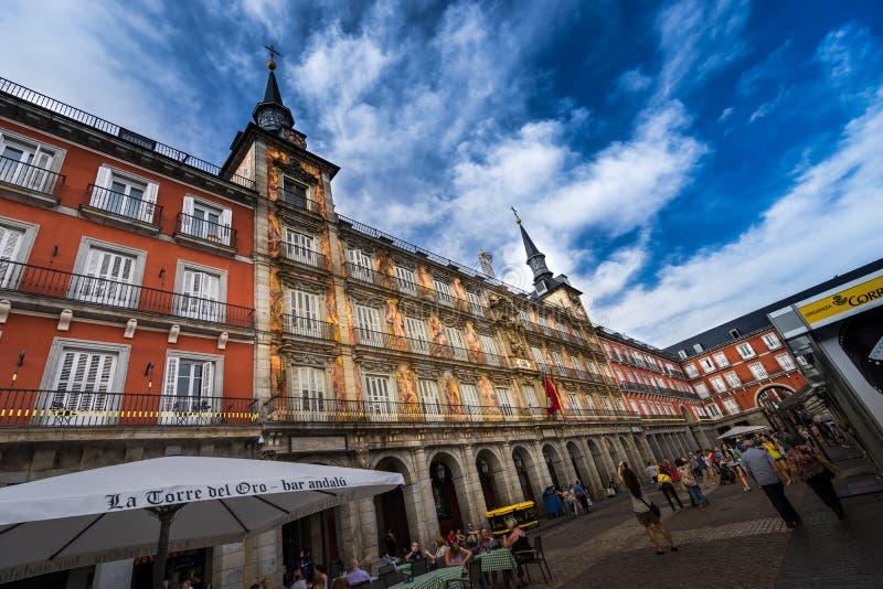 Sindaco Madrid Spain della plaza immagine stock