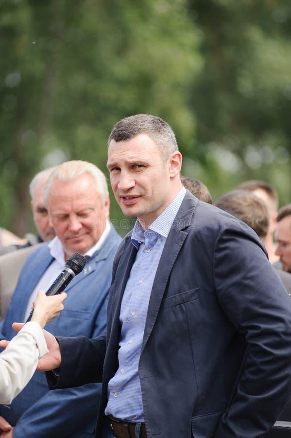 Sindaco Vitali Klichko di Kyiv immagini stock