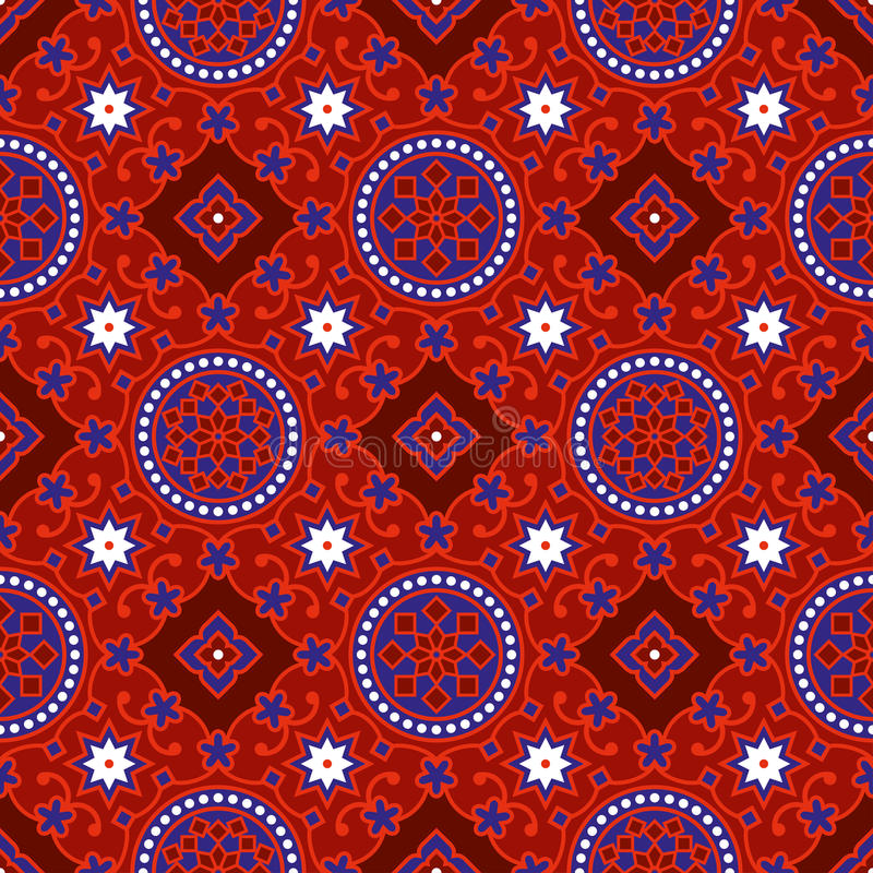 Sindhi Ajrak Pattern Vector vector illustration
