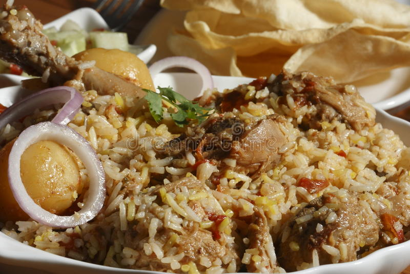 Sindhi Biryani - ένα μη -μη-veg ινδικό πιάτο στοκ εικόνες