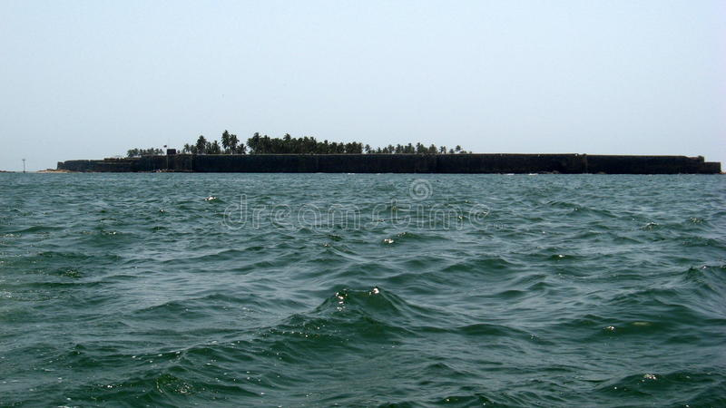 Sindhudurg Fort. The historic fort of Sindhudurg which was built by Shivaji in the sea near Malvan stock photos
