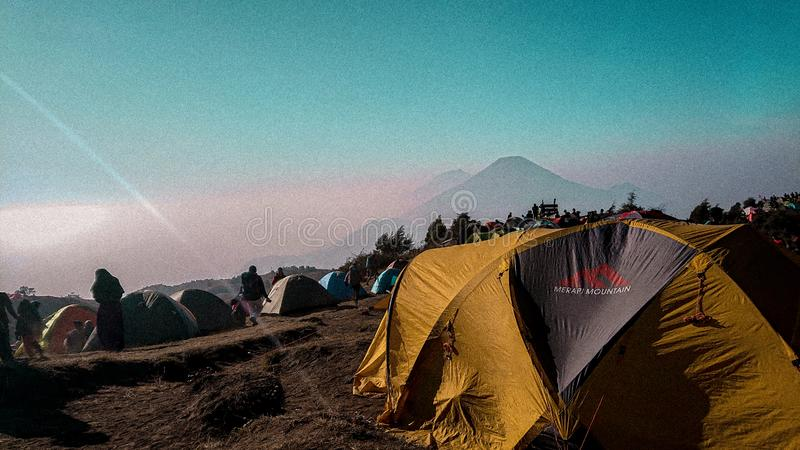 Sindoro mountain royalty free stock image