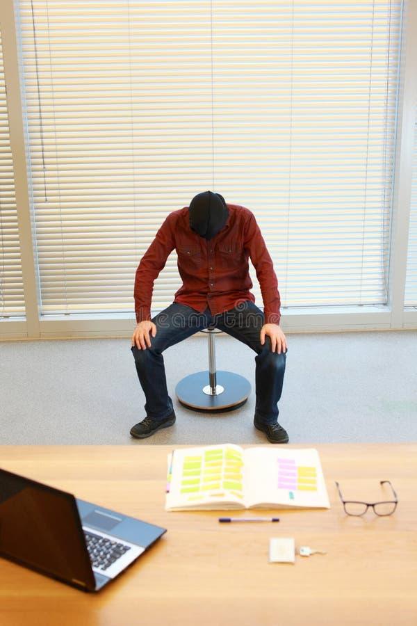 Sindrome di burnout immagine stock libera da diritti
