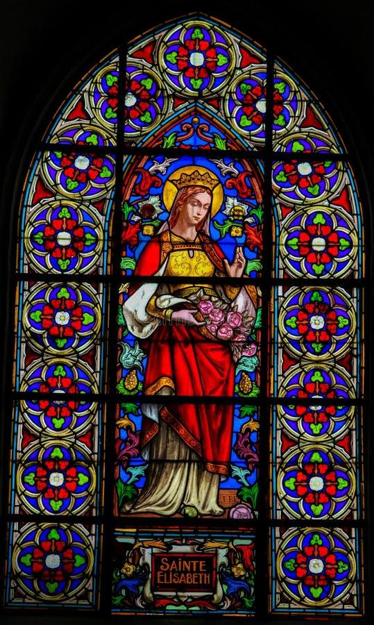 Sined Glass of Saint Elisabeth - St Valery Sur Somme royalty-vrije stock foto's