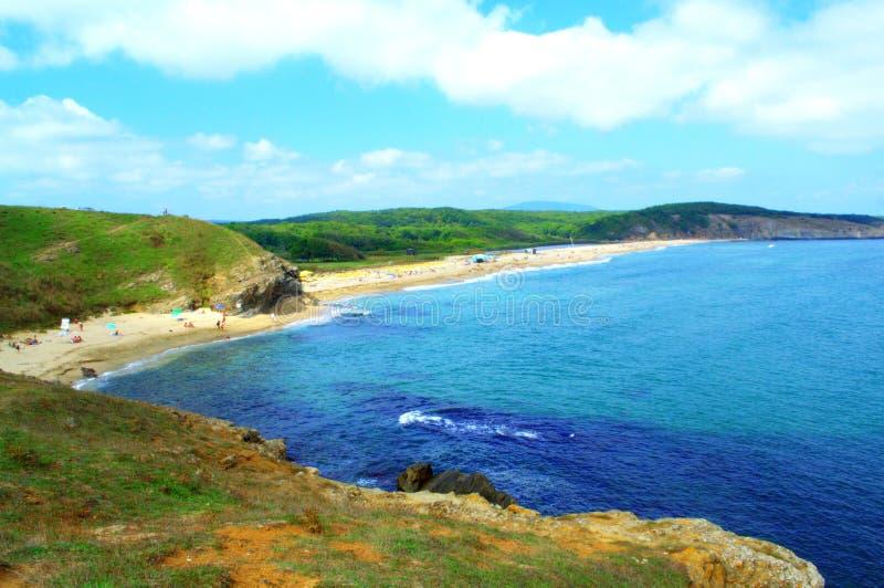 Sinemorets海滩,保加利亚 库存照片