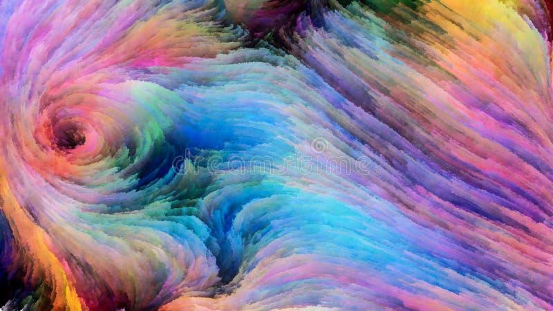 Sinergia colorida da pintura ilustração do vetor