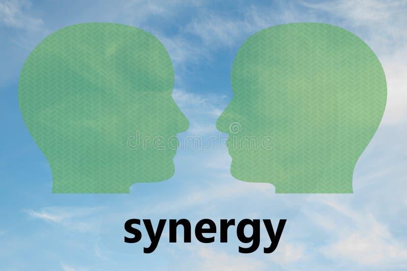 SINERGIA - concepto de la comunicación foto de archivo libre de regalías