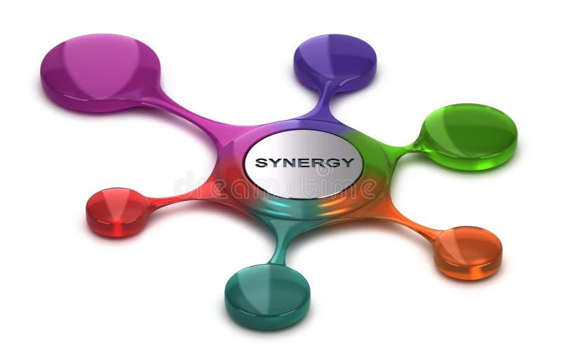Sinergia de Business or Company, Team Cohesion ilustración del vector