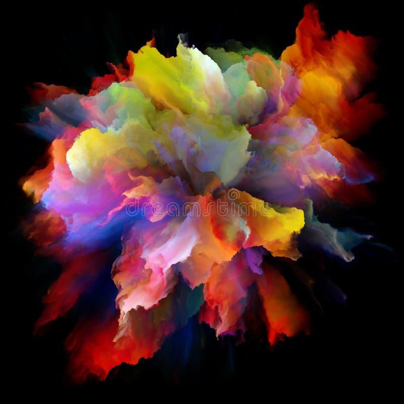 Sinergias da explosão colorida do respingo da pintura ilustração royalty free