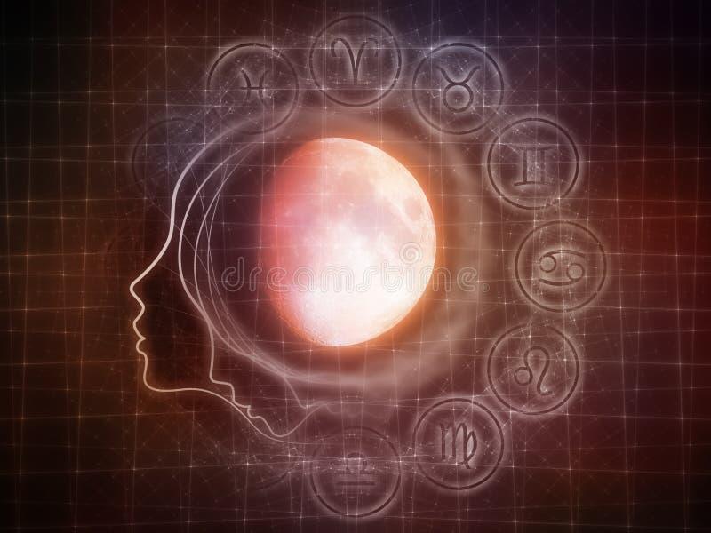 Sinergias da lua ilustração stock