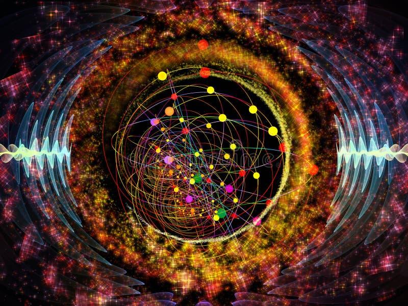 Sinergias da oscilação radial ilustração stock
