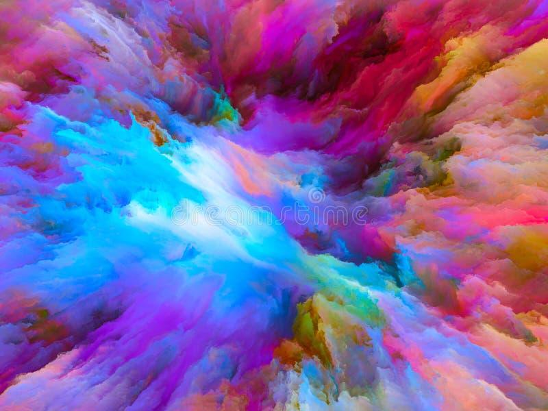 Sinergias da pintura surreal ilustração do vetor