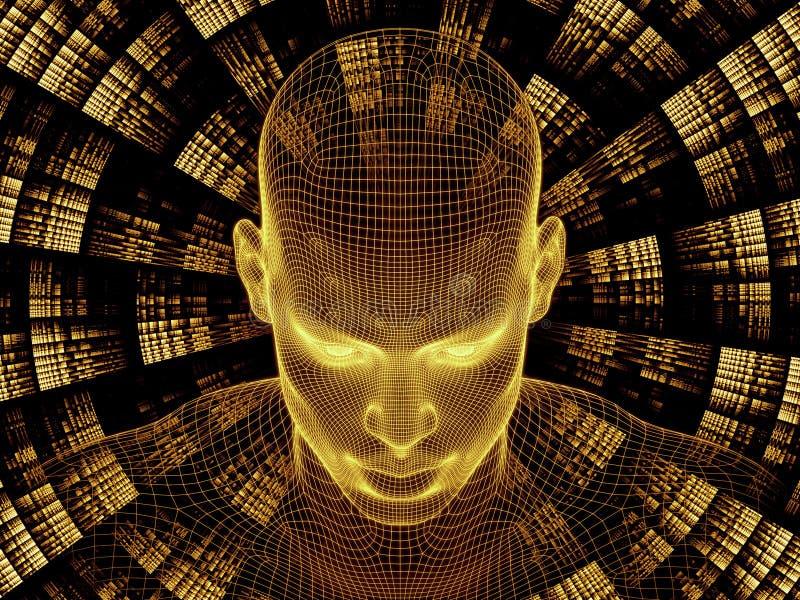 Sinergias de la identidad de Digitaces ilustración del vector