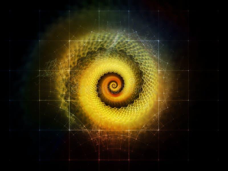 Sinergias do espaço ilustração do vetor