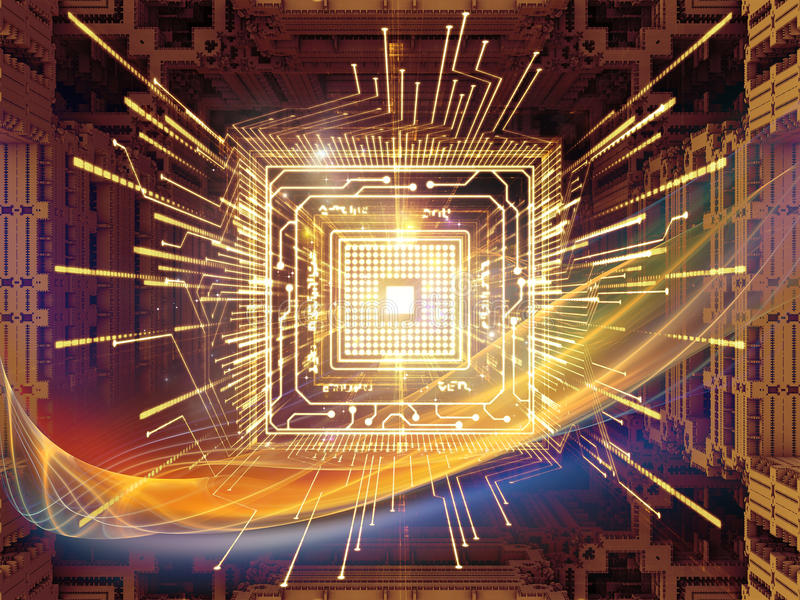 Sinergie del CPU royalty illustrazione gratis