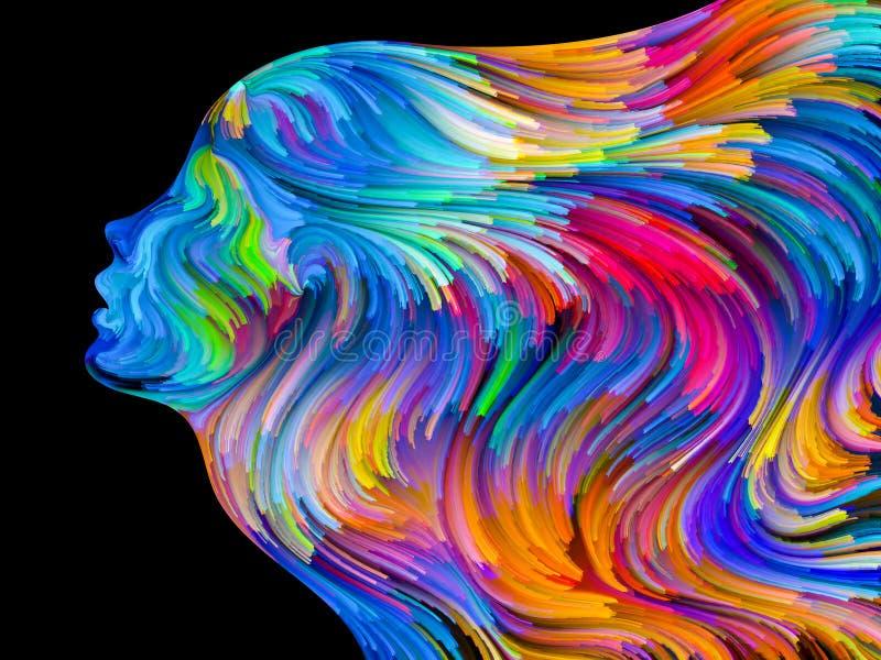 Sinergie del sogno dipinto illustrazione vettoriale