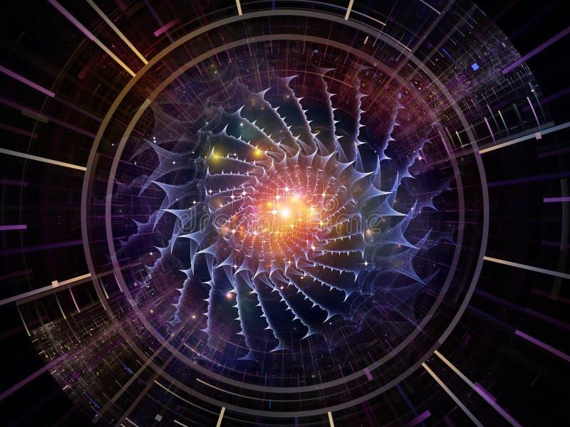 Sinergie dell'emettitore dello spazio illustrazione vettoriale
