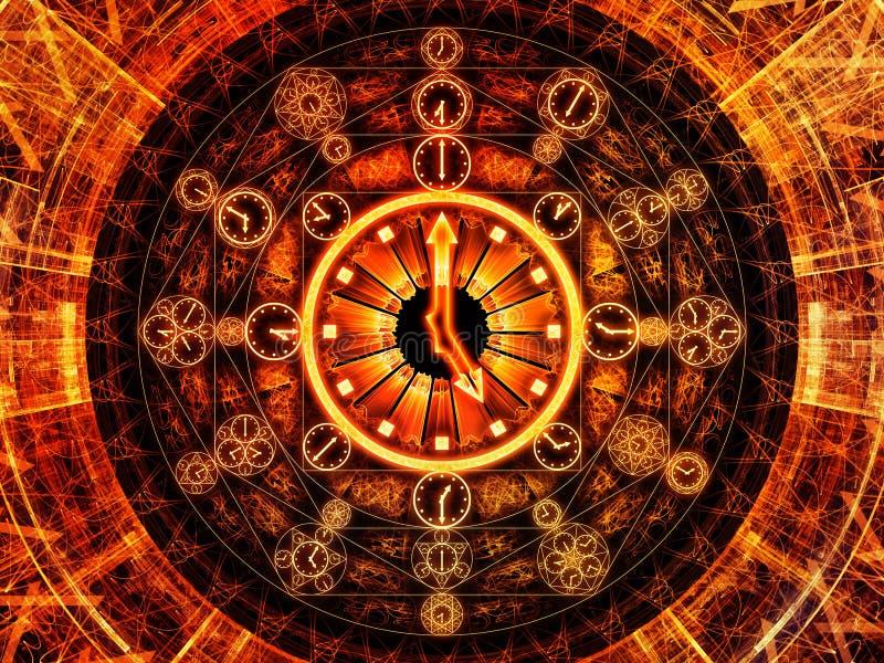 Sinergie di cronologia illustrazione vettoriale