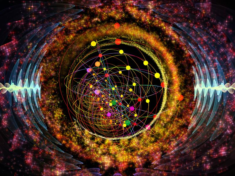 Sinergie di oscillazione radiale illustrazione di stock