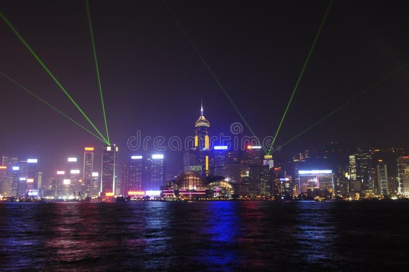 Sinfonía de la luz, Hong-Kong imagenes de archivo